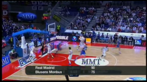 Derrota do Blusens Monbus ante o Real Madrid (90-75) no comezo das eliminatorias polo título