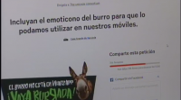 Recollen sinaturas para crear a emoticona do burro no WhatsApp