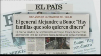 "O xornal ""El País"" revela anotacións do diario de José Bono, no décimo aniversario do accidente do Yak 42"