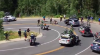 Grave accidente dun ciclista no Tour de Utah