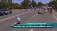 Etapa accidentada no Tour Down Under