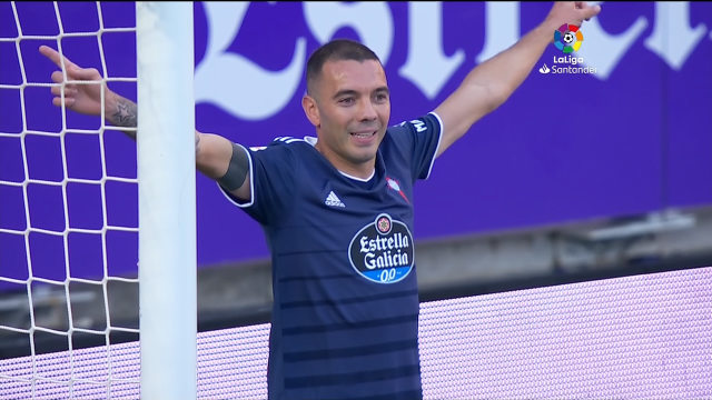 O Celta empata en Valladolid (1-1) e segue invicto