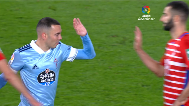 Aspas, protagonista na vitoria do Celta