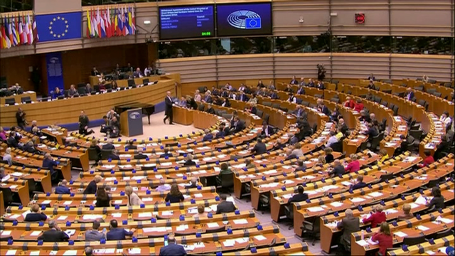 O Parlamento Europeo ratifica o acordo do 'brexit'